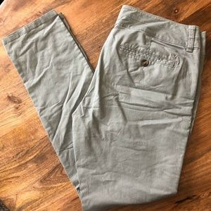 AMERICAN EAGLE Skinny Stretch Pant Olive Green 10